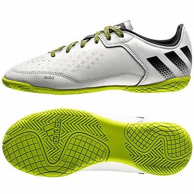 siguiente Mm maquillaje  Adidas Junior Ace 16.3 Court Football Soccer Boots White Green UK 3.5 RRP  £35 | eBay