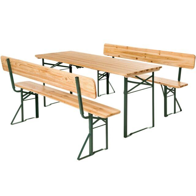 Panche E Tavoli Da Birreria.Tectake 402503 Set Birreria Tavolo 2 Panche Con Schienale 176 X 76cm Marroni Acquisti Online Su Ebay