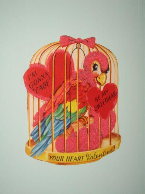 Gorgeous Vintage Birdcage Valentine Card