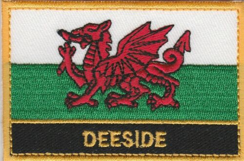 Deeside Cymru Town /& City Embroidered Sew on Patch Badge
