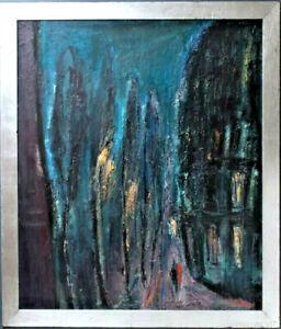 "CHRISTL MARIA GOTHNER (GERMAN, B.1957) ""NACHT"" OIL ON BOARD"