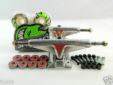 Venture 5.25 Lo Raw Skateboard Trucks + Spitfire 53mm Bighead White Wheels