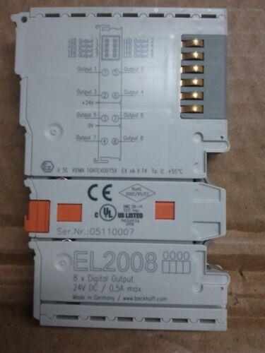 BECKHOFF EL2008  8-channel digital output terminal 24 V DC 0.5 A
