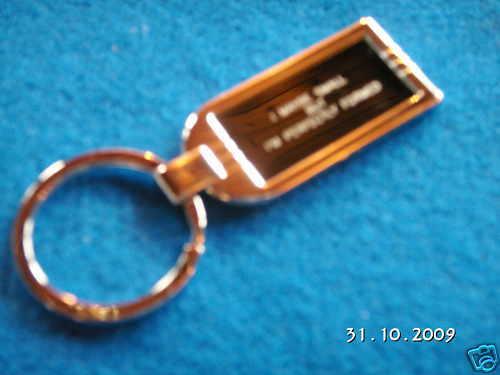CLASSIC MINI CHROME KEY RING WITH LARGE STURDY RING