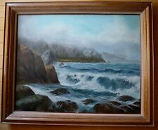 ROAL ENGLISH, vintage Coastal Seascape, Canada Canadian artist, ocean sea Oil
