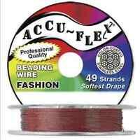 30' Accuflex Metallic Copper 49 Strand .024in Accu-flex Beading Wire