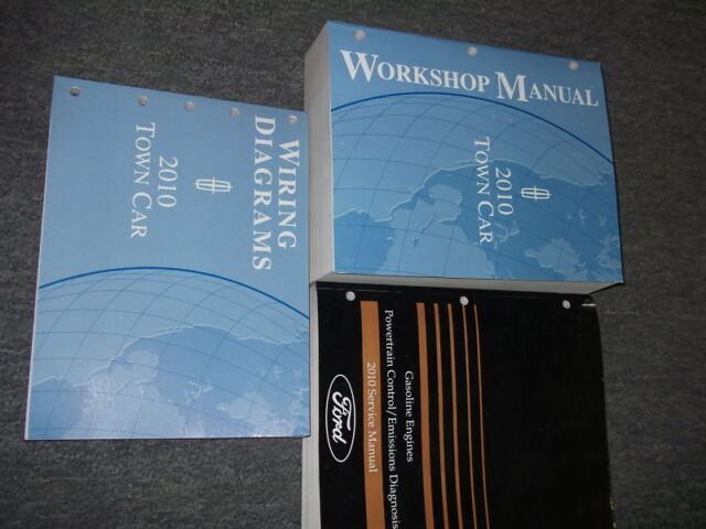 2010 Lincoln Town Car Service Repair Shop Workshop Manual Set W Pced Ewd Oem