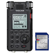 Tascam DR-100 MKIII MK3 Linear PCM Handheld Stereo Recorder + SDXC 64GB Card