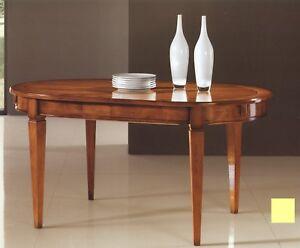 Tavoli Ovali Da Cucina.Dettagli Su Tavolo Da Pranzo Ovale In Legno Allungabile 160 320 Finitura Nocexsoggiorno 5294