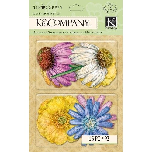 Tim Coffey Foliage Floral K/&Company Scrapbooking Layered Accents