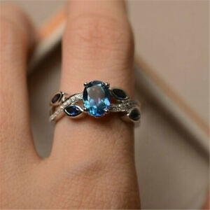 Fashion-925-Silver-Wedding-Rings-Women-Laides-Aquamarine-Jewelry-Gift-Size-6-10