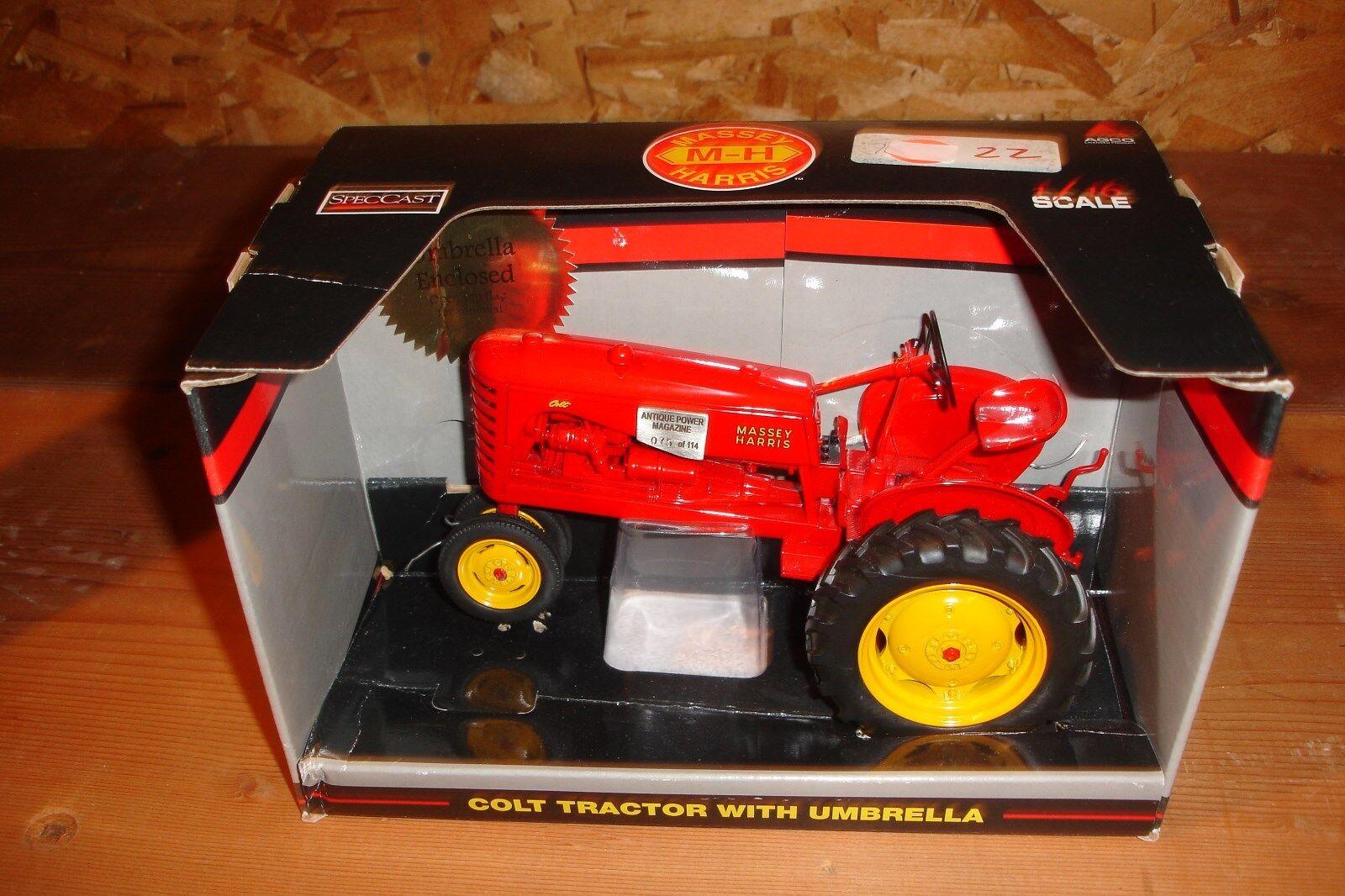 nuevo estilo 1 16 Massey Massey Massey Harris Colt Tractor Con Paraguas, antiguo poder Revista Nueva En Caja  El nuevo outlet de marcas online.