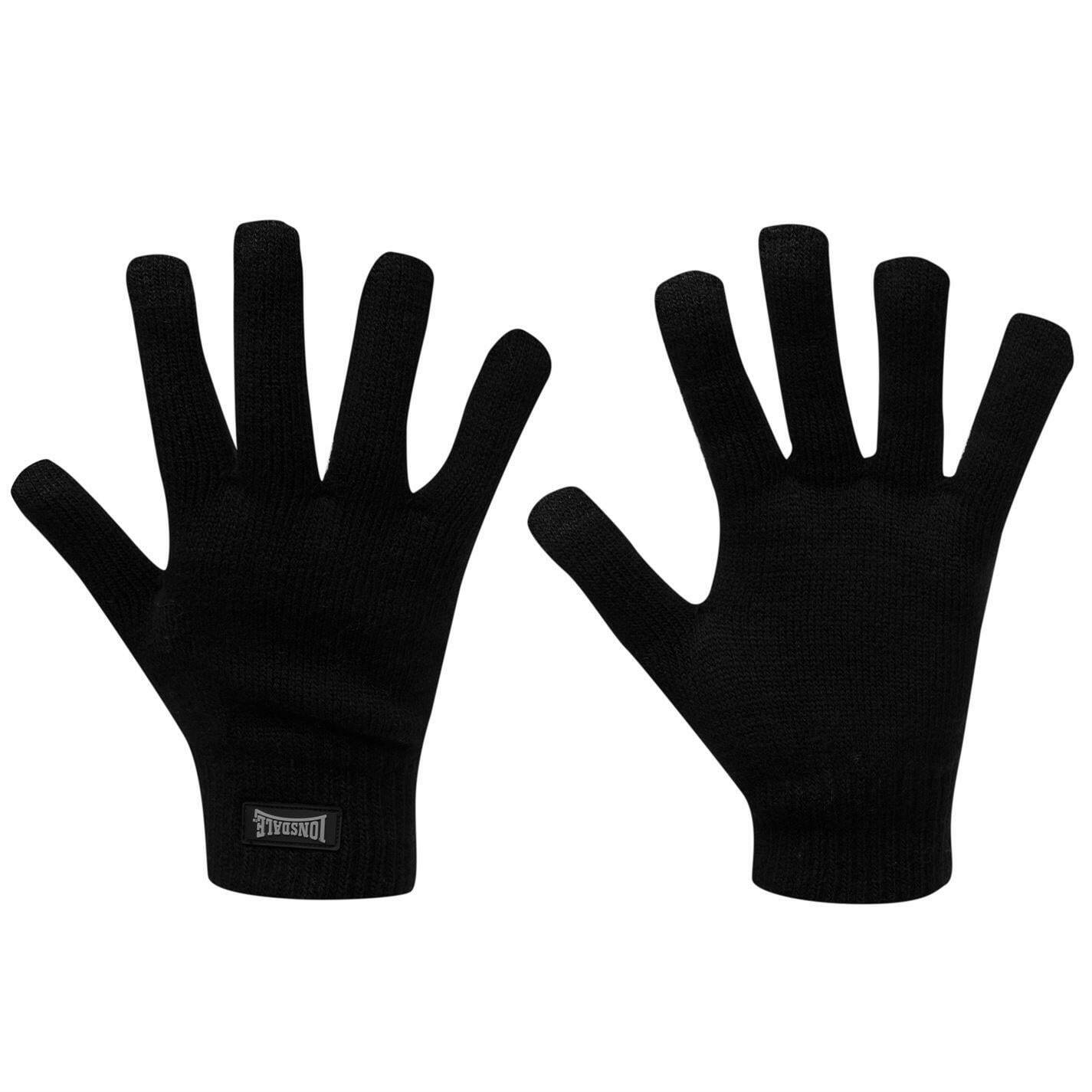 Lonsdale men ko winter knitted gloves mittens mitts sports running