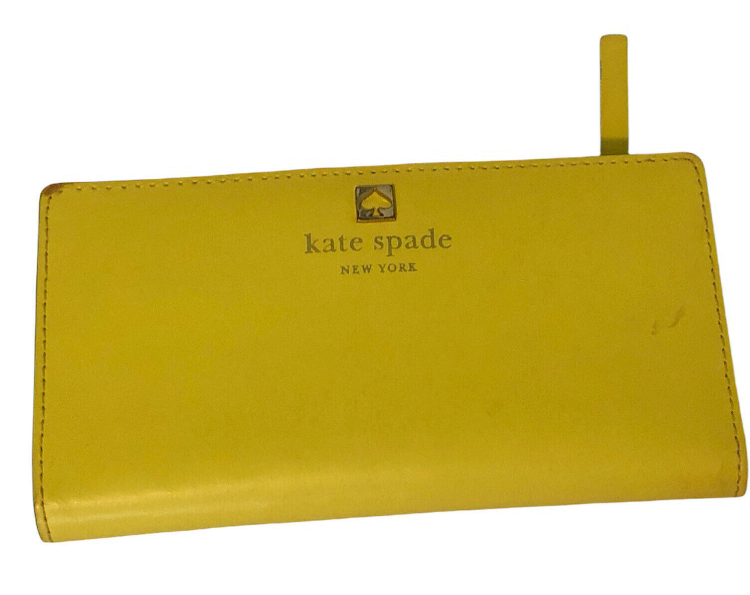 Kate Spade Wallet Stacy Leather Bifold Bright Yellow Credit Cards