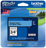 Brother 3/4 (18mm) Black On Blue P-touch Tape For Pt2700, Pt-2700 Label Maker
