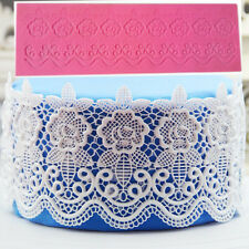 Flower Lace Embossed Mat Silicone Fondant Mould Cake Decorating Baking Mold Tool