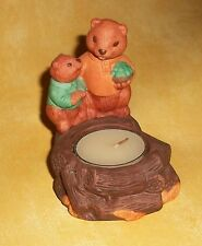 Father & Son BEAVERS Fireside Friends CANDLE HOLDER, Vintage AVON, UNUSED!