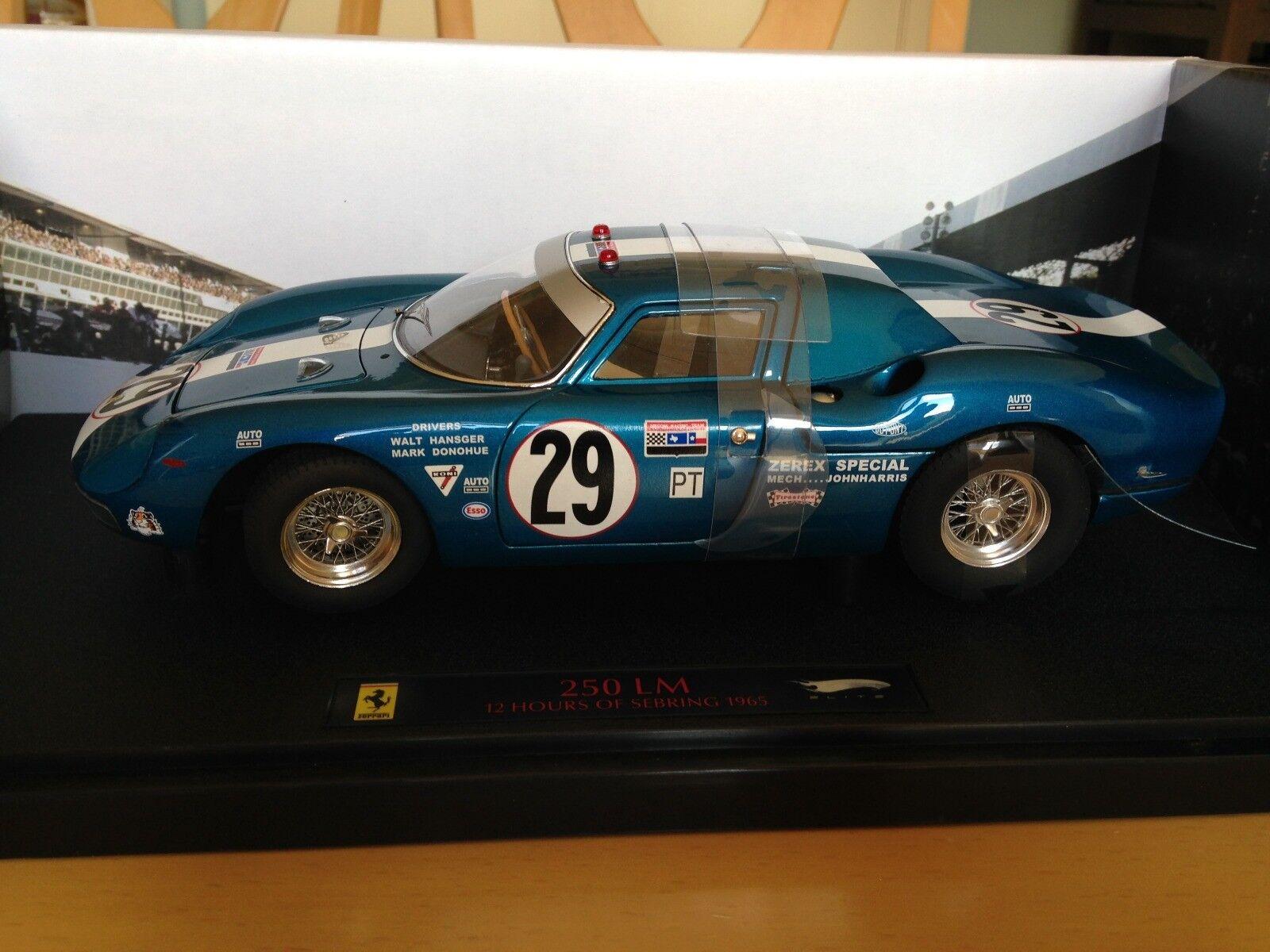 barato en alta calidad Ferrari 250 LM - 12 Hrd of of of Sebring 1965 -  29, 1 18 scale....NIB.  vendiendo bien en todo el mundo