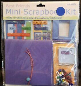 Mini-scrapbook-album-kit-COLORBOK-good-034-stuff-034-w-some-pcs-missing-free-gift