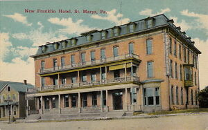 Image Is Loading Postcard New Franklin Hotel St Marys Pa 2