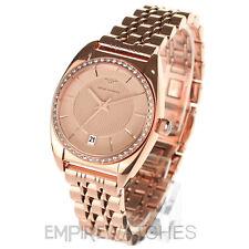*NEW* LADIES EMPORIO ARMANI FRANCO ROSE GOLD DIAMOND WATCH - AR0381 - RRP £299