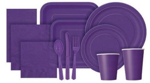Nuevo Años Cubre Mesa Tazas Platos De Plástico tablecovers Cutlery ~ papel Servilletas
