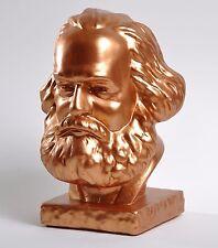 Karl Marx Büste Bust Skulptur Figur Bronze Alabastergips 20 cm