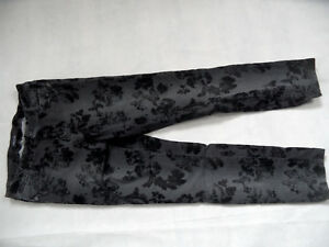 MARC-CAIN-tolle-Jeans-gemustert-mit-Flockprint-grau-schwarz-Gr-N2-TOP-BI618