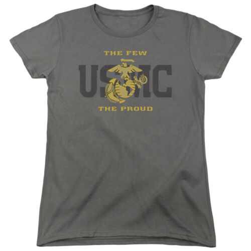 US Marine Corps The Few The Proud Charcoal Women/'s Shirt