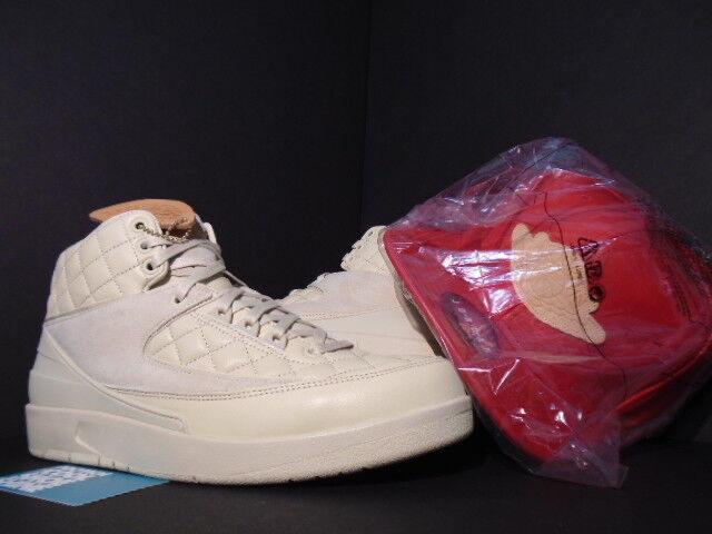 NIKE AIR JORDAN II 2 RETRO JUST DON C BEACH CREAM GOLD rouge HAT 834825-250 DS 9.5 Chaussures de sport pour hommes et femmes
