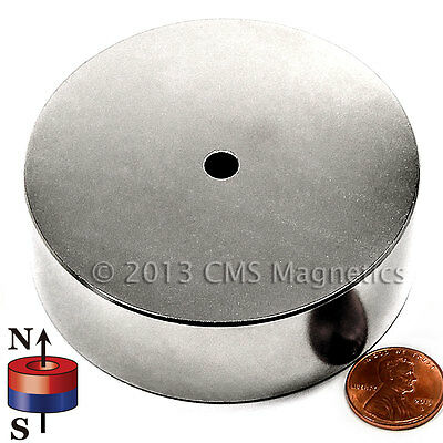 "CMS Magnetics Neodymium Magnets N42 OD 3""xID1/4""x1"" NdFeB Rare Earth Magnets 4PC"