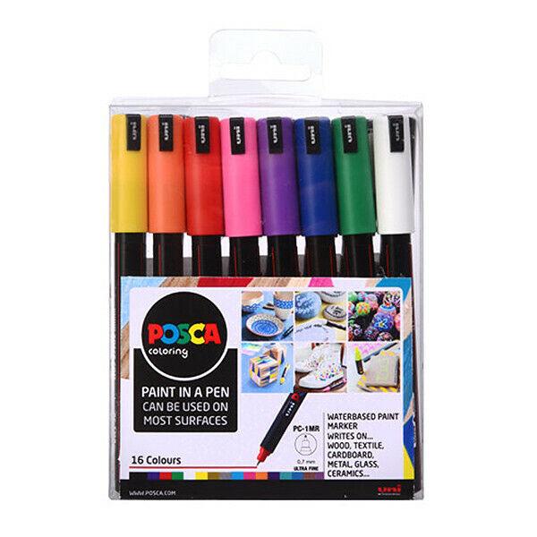 POSCA BLACK Marker Ultra Fine Bullet Tip Pen PC-1MR