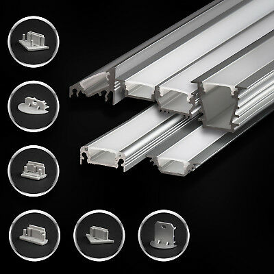 2m Alu Profil für LED Schiene EINPUTZ 10.75mm natureloxiert Leiste Profilzubehör