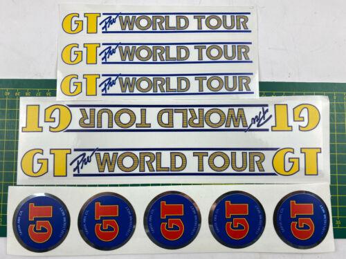 Old School Bmx decalques adesivos 84 85 Pro Tour Mundial Conjunto Amarelo Em Azul Claro