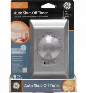Ge 60 Minute Auto Shut Off Timer With On Off Switch