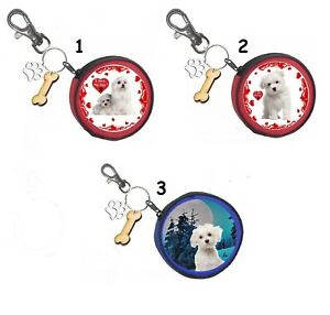 Malteser Hund Maltese Dog Geldbörse Coin Purse Oder Snackbeutel Or Treat Bag Profitieren Sie Klein Damen-accessoires