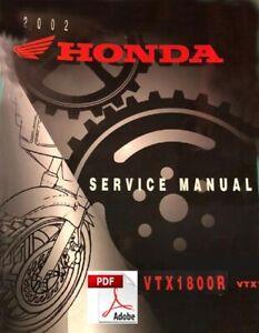 Repair Book PDF Factory Service Manual Honda VTX1800-2001 Workshop Manuals