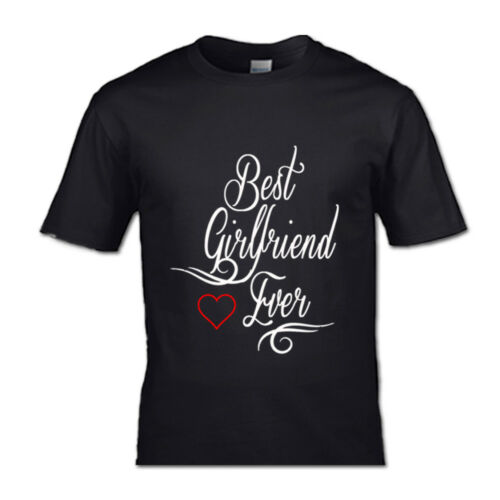 BEST GIRLFRIEND AND BEST BOYFRIEND T-SHIRT VALENTINES PARTNERS COUPLES HIS /& HE