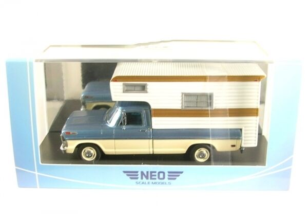 FORD F100 Camper (Metallic bluee  Beige ) 1968