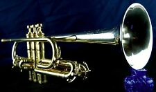 King Liberty Silver Tone Long Bell 1940 Cornet Sterling Silver Bell, Case, MP