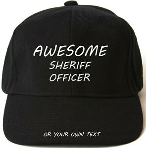 SHERIFF baseball cap Gift Idea Puff Embroidery