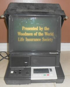 Rare Vintage BELL & HOWELL Projector FILMOSOUND 35 W/ Woodmen Insurance Policy