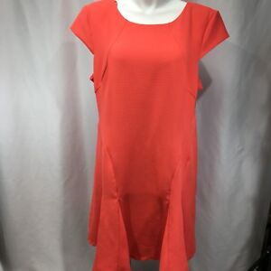 eb0b2fdc9e2f Studio One Women's Dress Coral Knit Stretch Fit Flare Cap Sleeve ...