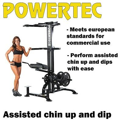 POWERTEC Leverage Assisted Chin Up Dips L-CDA13 Power Tower Pull Up Station