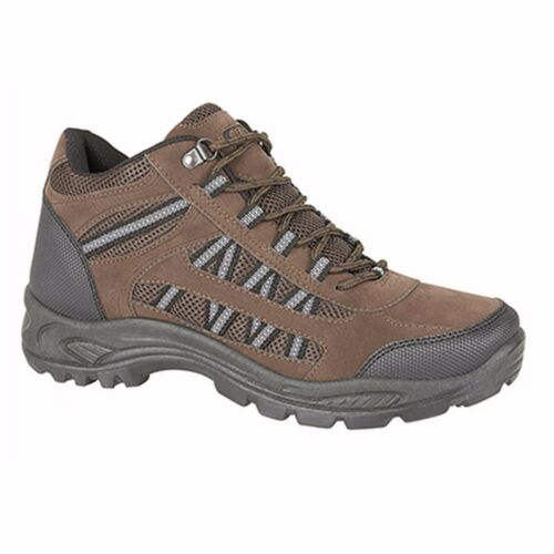 Dek GRASSMERE Trekking Trail Walking Ankle Boot Trainers Brown Synth Nubuck Text