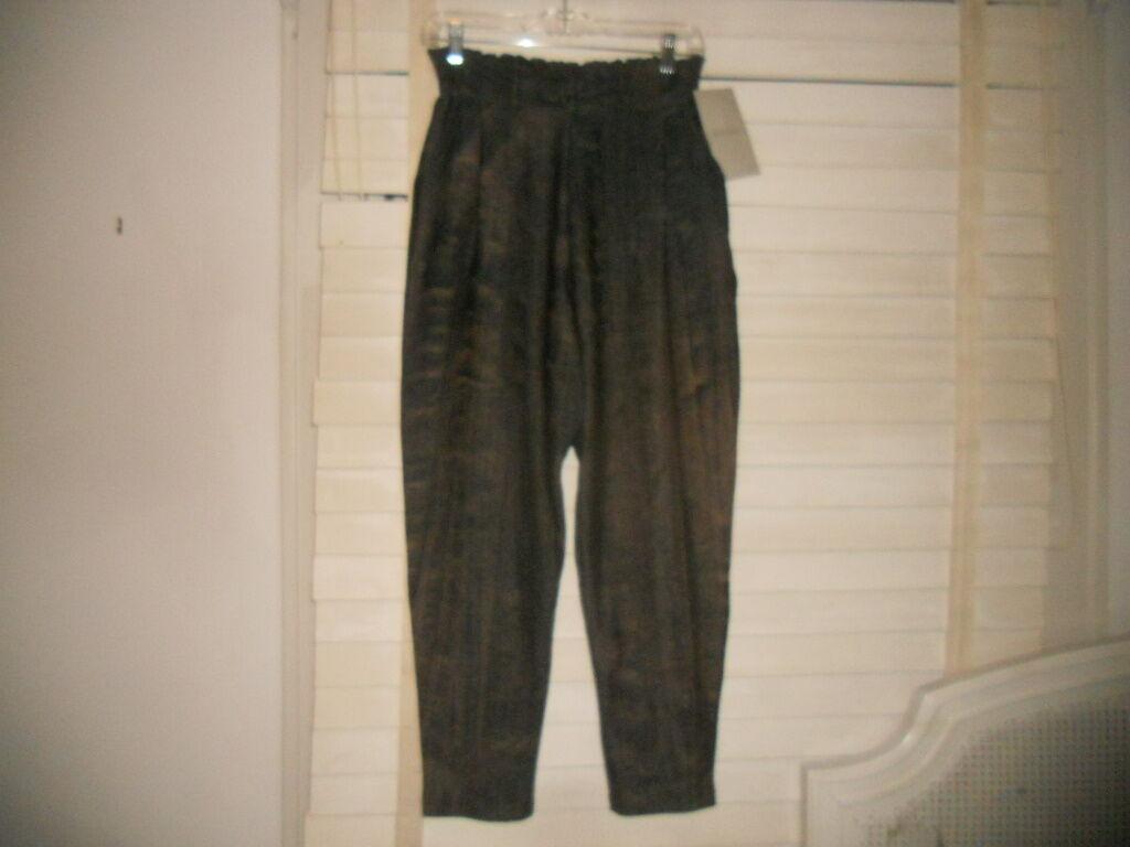 Neuf avec étiquettes Rina Zin Israel  Art to Wear  Unique Imprimé easywear Pantalon  3  264