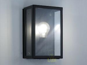 Lampada da parete applique vintage industriale nero rettangolare