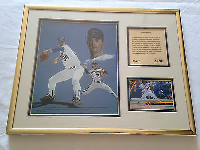 Nolan Ryan Art Framed Lithograph Print Kelly Russell Astros Rangers Baseball