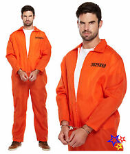 Orange Prisoner Overall Costume - Fancy Dress Outfit Party Jumpsuit Festival