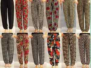 NEW-Ladies-High-Waist-Wide-Leg-Loungewear-Trousers-Casual-Harem-Trouser